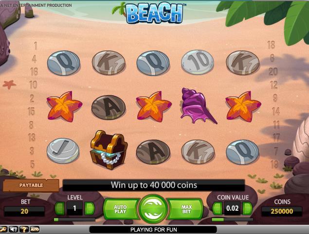 jocuri slot beach, netent