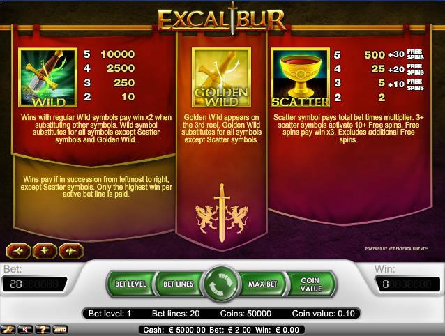 Excalibur-slot-netent-ss