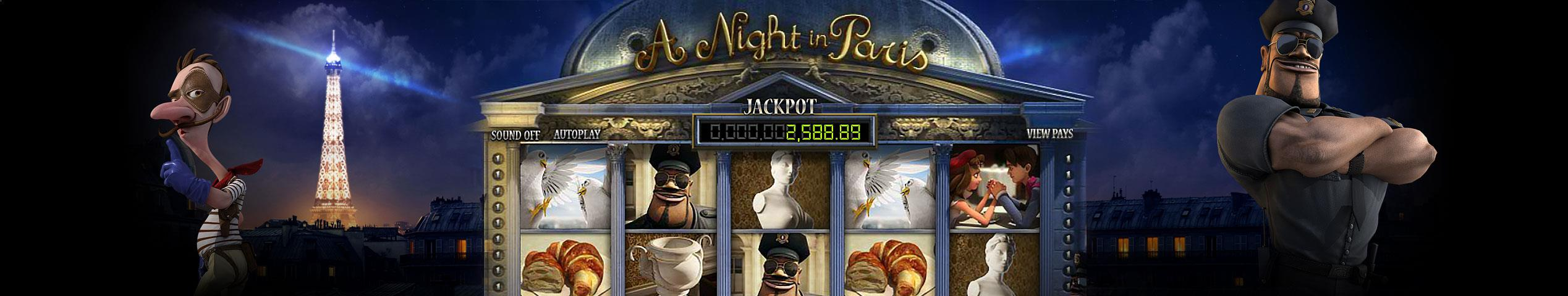 A Night in Paris JP Multa Baft jocuri slot slider Betsoft