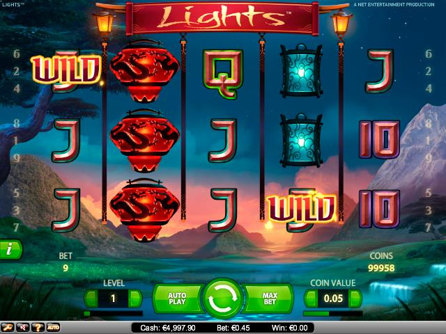 Lights NetEnt jocuri slot screenshot