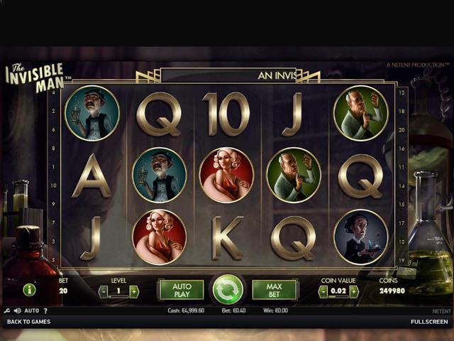 The Invisible Man NetEnt jocuri slot screenshot