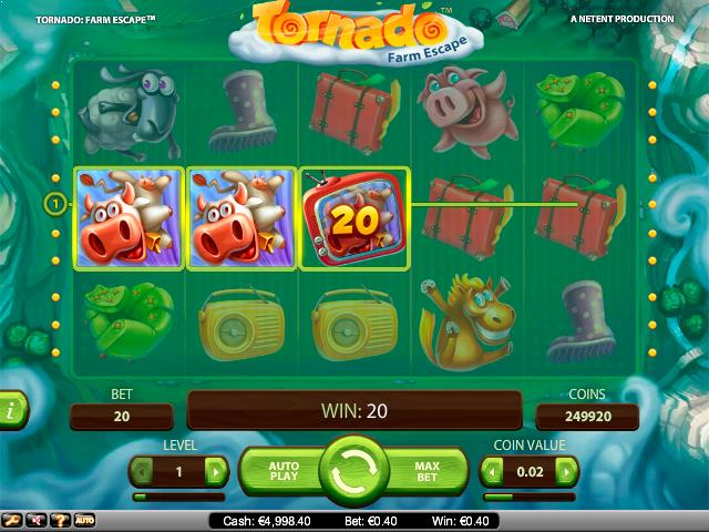 Tornado Farm Escape NetEnt jocuri slot screenshot