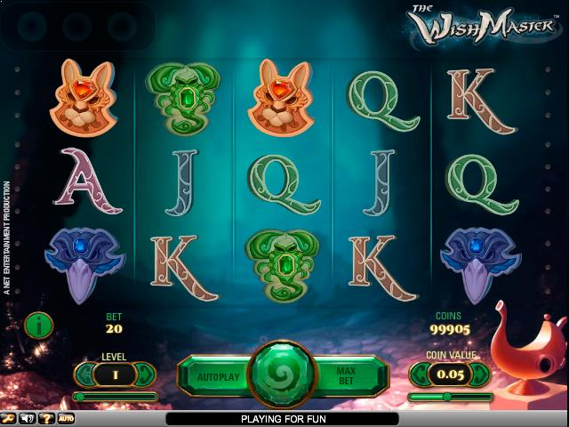 Wish Master NetEnt jocuri slot screenshot
