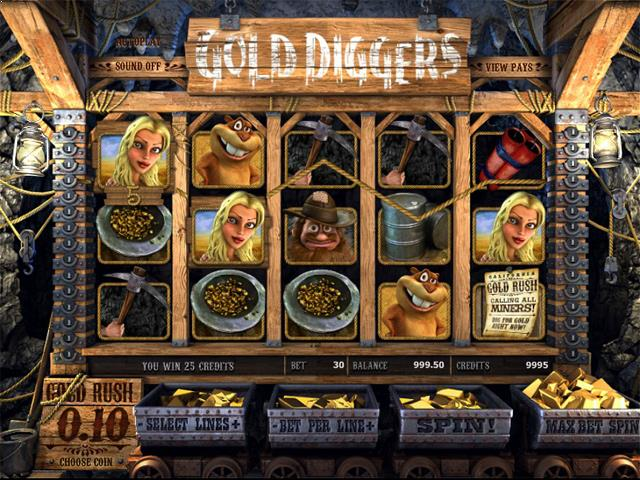 Gold Diggers netent jocuri slot screenshot