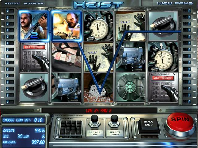 Heist netent jocuri slot screenshot