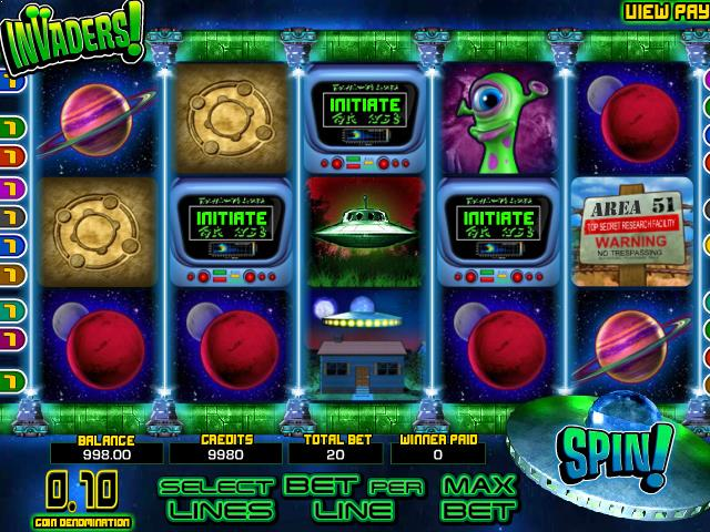 Invaders netent jocuri slot screenshot