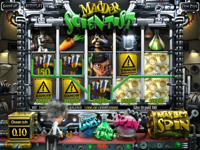 Madder Scientist netent jocuri slot screenshot