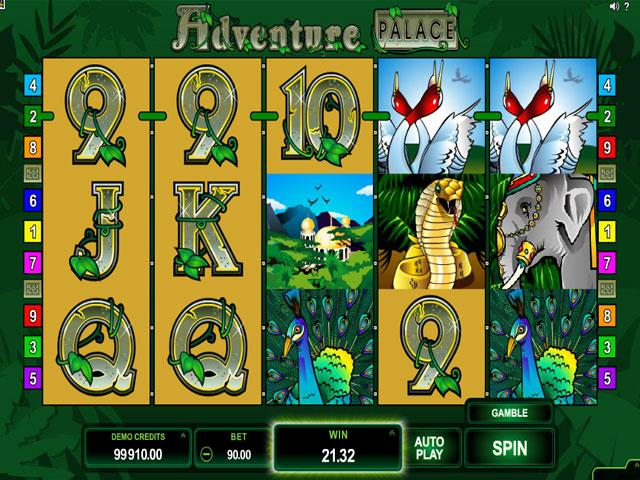 Adventure Palace Microgaming jocuri slot screenshot