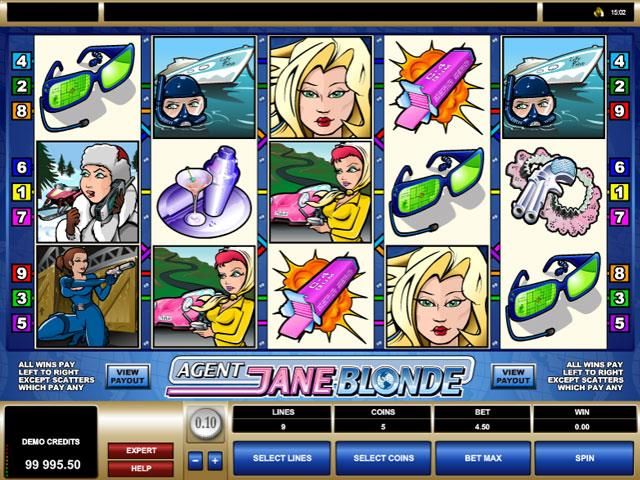 Agent Jane Blonde Microgaming jocuri slot screenshot