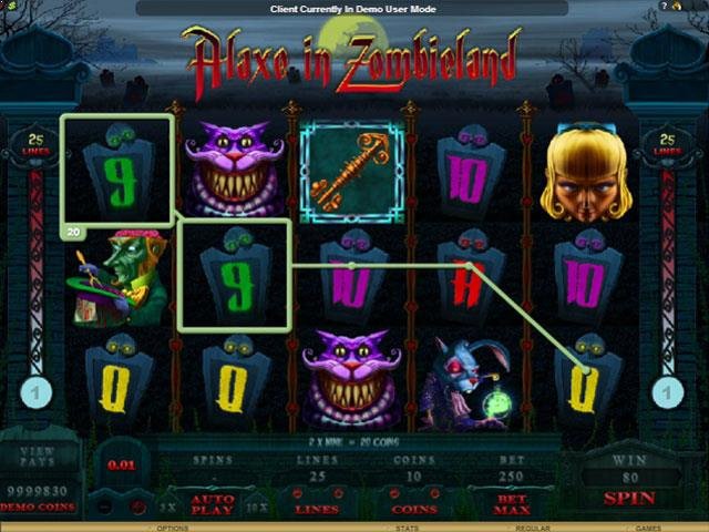 Alaxe in Zombieland Microgaming jocuri slot screenshot