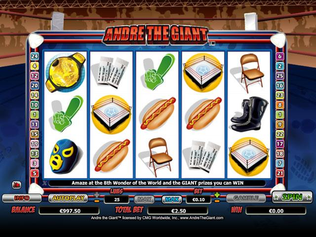Andre the Giant Microgaming jocuri slot screenshot