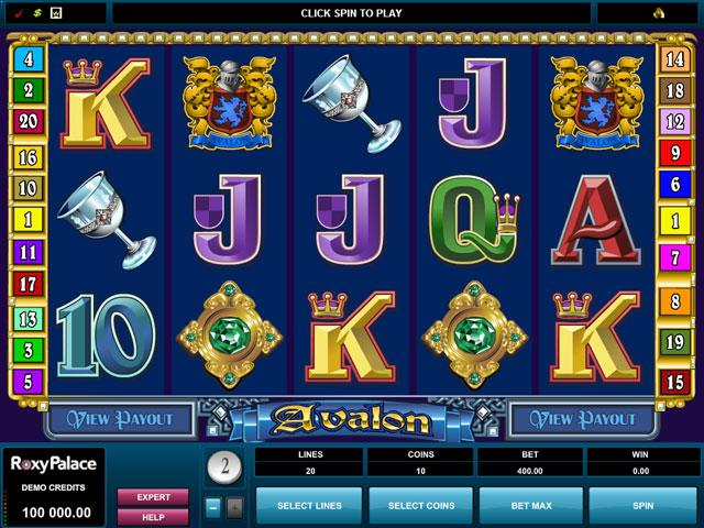 Avalon Microgaming jocuri slot screenshot