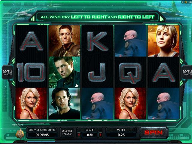 Battlestar Galactica Microgaming jocuri slot screenshot