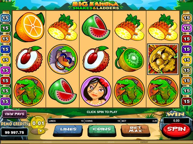 Big Kahuna Snakes Microgaming jocuri slot screenshot