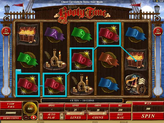 Booty Time Microgaming jocuri slot screenshot