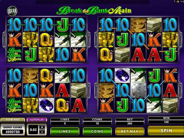 Break Da Bank Again Microgaming jocuri slot screenshot