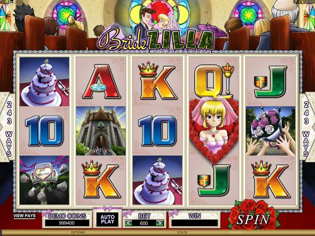 BrideZilla Microgaming jocuri slot screenshot