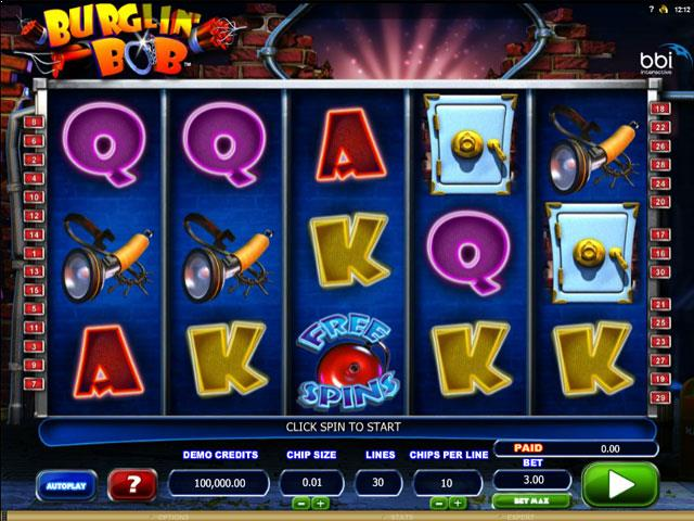 Burglin Bob Microgaming jocuri slot screenshot