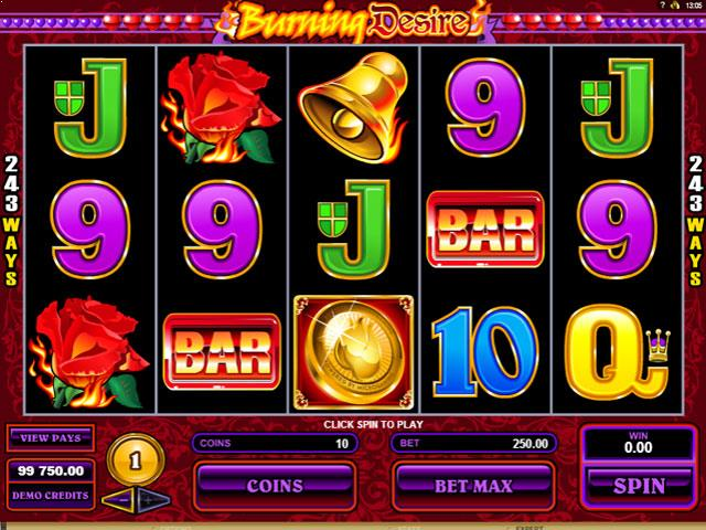 Burning Desire Microgaming jocuri slot screenshot
