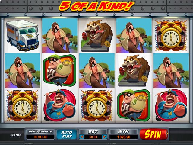 Bust The Bank Microgaming jocuri slot screenshot