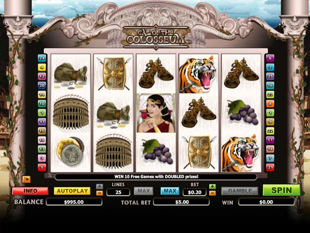 Call of the Colosseum Microgaming jocuri slot screenshot