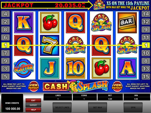Cash Splash Microgaming jocuri slot screenshot