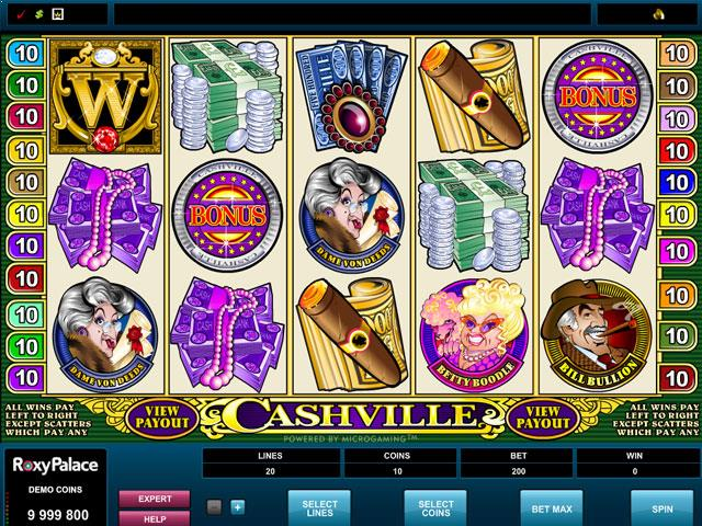 Cashville Microgaming jocuri slot screenshot