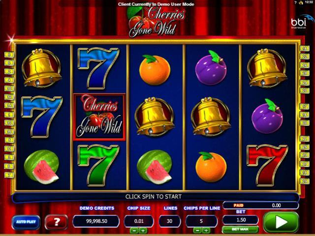 Cherries Gone Wild Microgaming jocuri slot screenshot