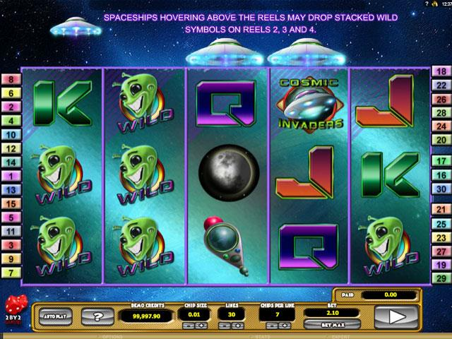 Cosmic Invaders Microgaming jocuri slot screenshot