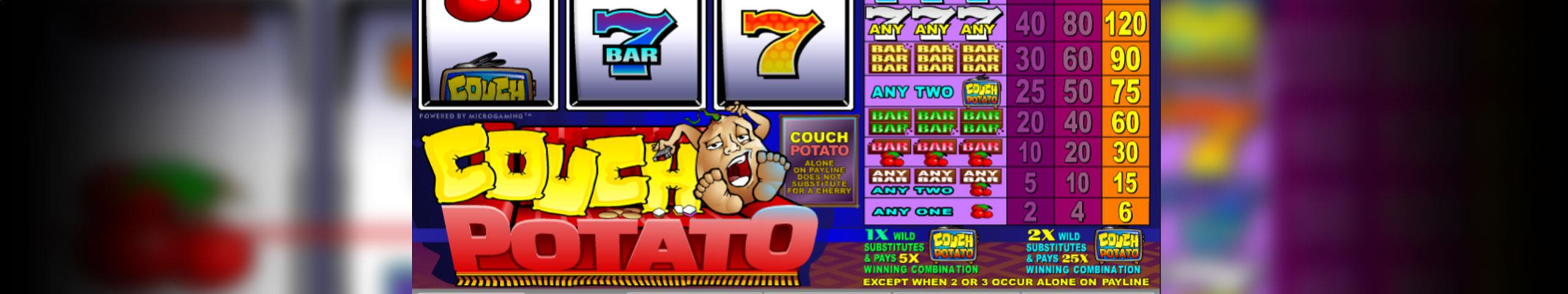 Couch Potato Microgaming jocuri slot slider