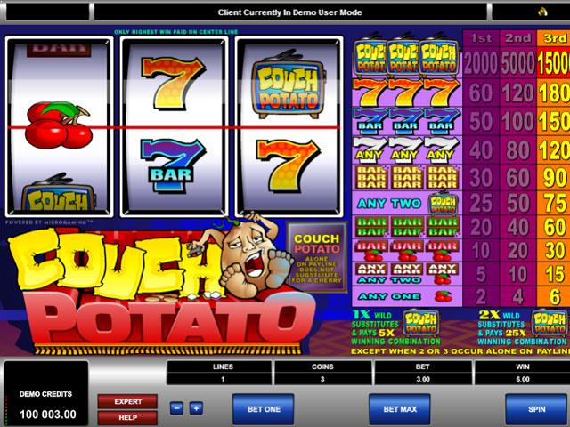 Couch Potato Microgaming jocuri slot screenshot