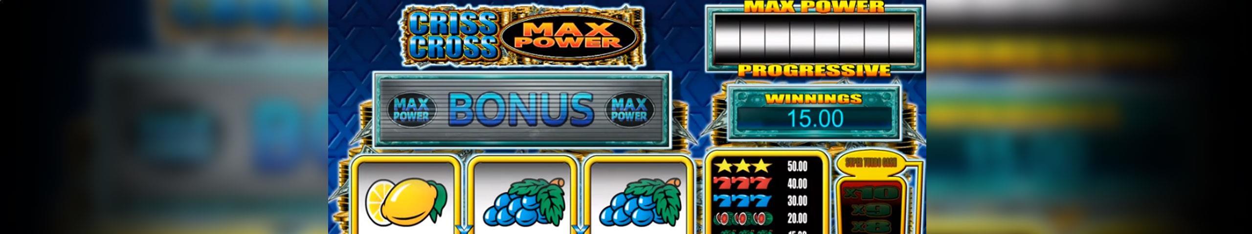 Criss Cross Max Power Microgaming jocuri slot slider