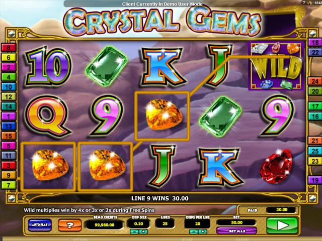 Crystal Gems Microgaming jocuri slot screenshot