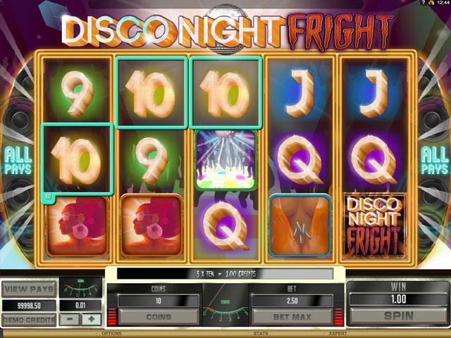Disco Night Fright Microgaming jocuri slot screenshot