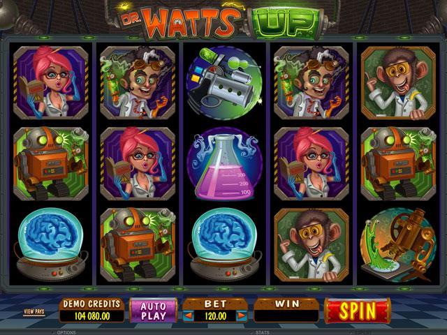 Dr Watts Up Microgaming jocuri slot screenshot