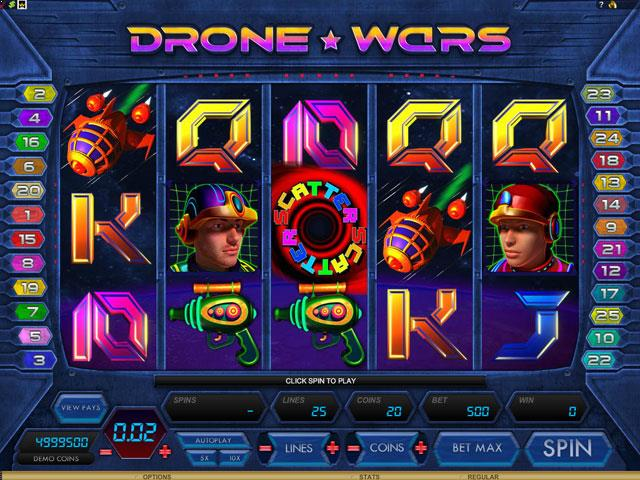 Drone Wars Microgaming jocuri slot screenshot