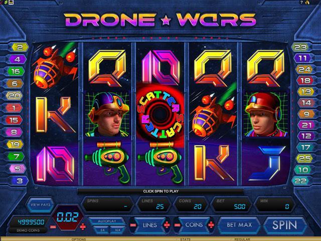 Drone Wars Microgaming jocuri slot screenshot