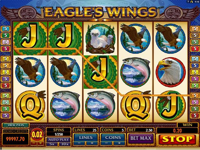 Eagles Wings microgaming jocuri slot screenshot