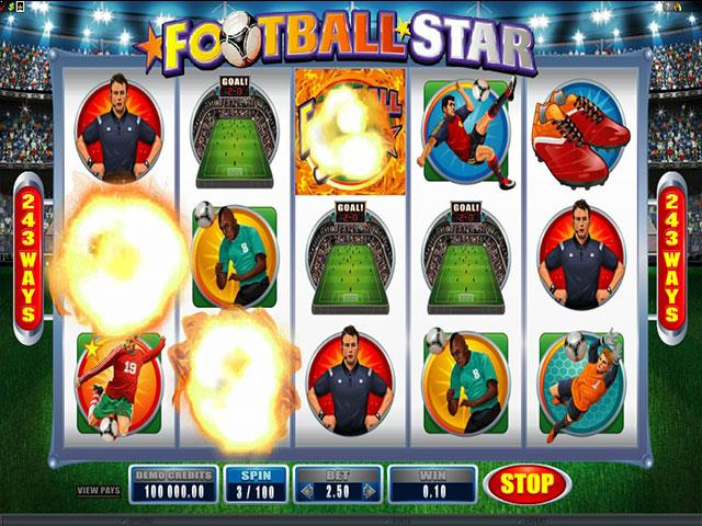 Football Star microgaming jocuri slot screenshot