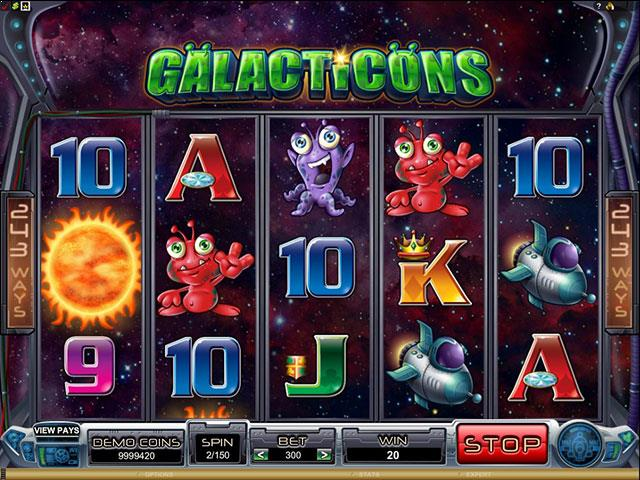 Galacticons microgaming jocuri slot screenshot
