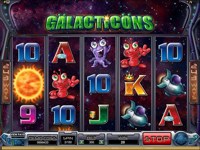 Galacticons microgaming jocuri slot screenshot