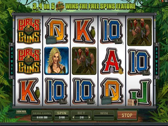 Girls With Guns II microgaming jocuri slot screenshot