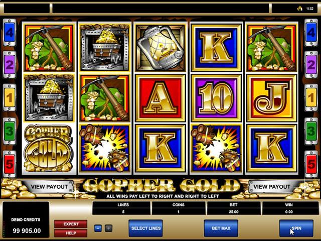 Gopher Gold microgaming jocuri slot screenshot