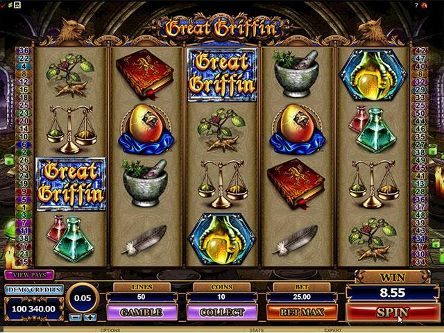 Great Griffin microgaming jocuri slot screenshot