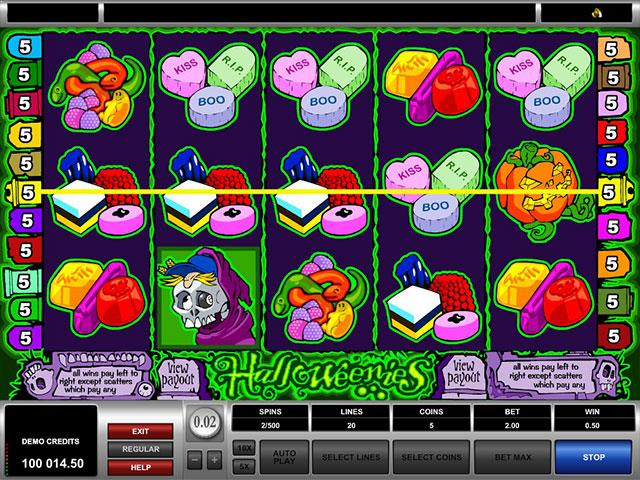 Halloweenies microgaming jocuri slot screenshot