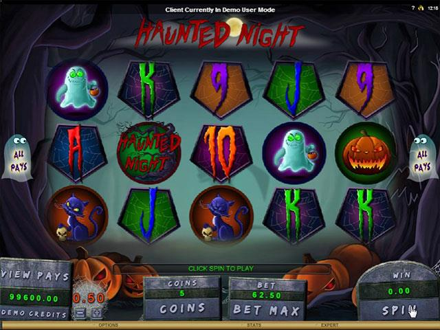 Haunted Night microgaming jocuri slot screenshot
