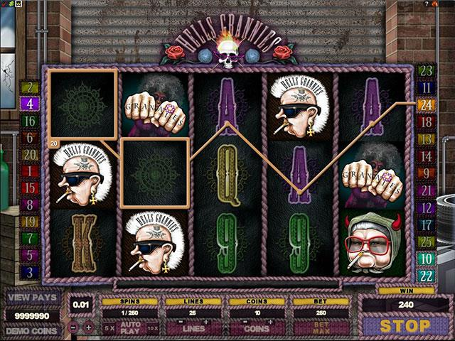 Hells Grannies microgaming jocuri slot screenshot