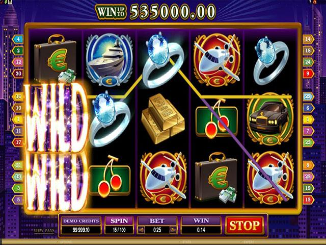 High Society microgaming jocuri slot screenshot