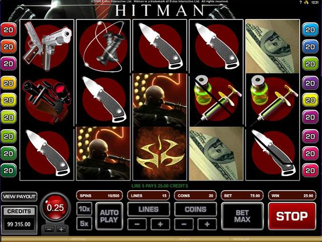 HitMan microgaming jocuri slot screenshot