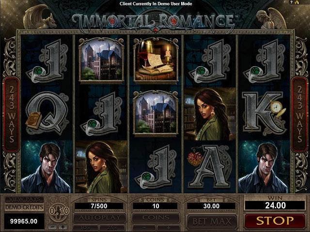 Immortal Romance microgaming jocuri slot screenshot
